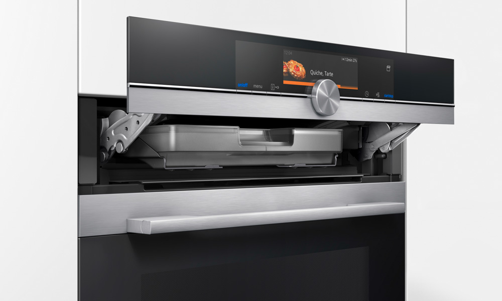 Siemens_iQ700 oven with microwave_display opened