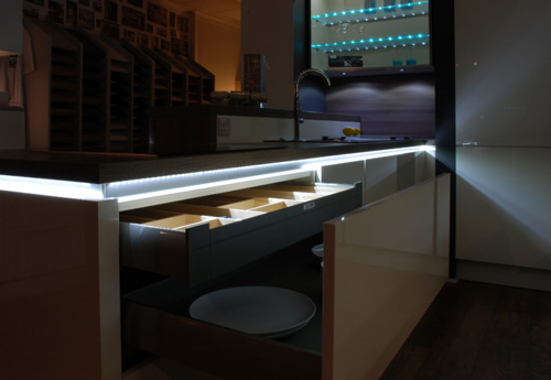 Kitchen Showroom Led Lighting Black Rok Kitchen Design Uckfield Sussex