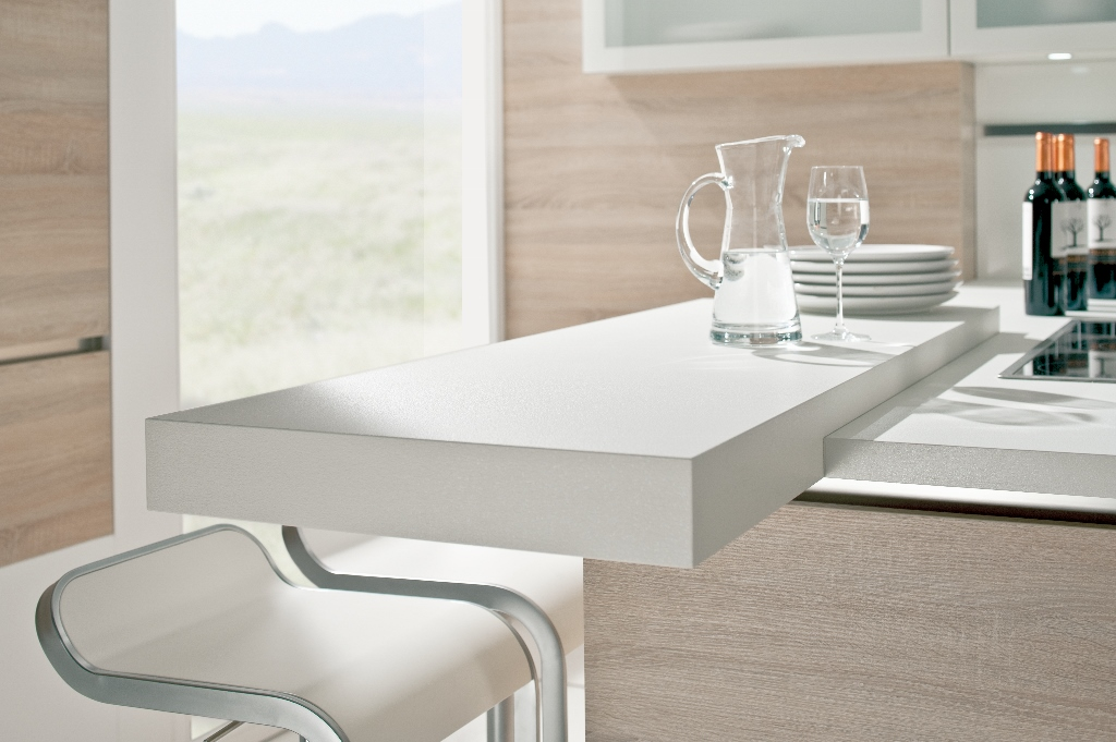 White Worktop Overhang Black Rok Kitchen Design Uckfield Sussex