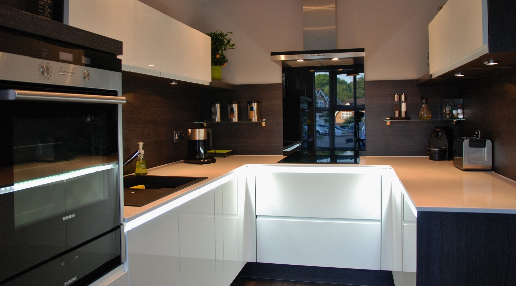 High Gloss White Lacquer Kitchen 2