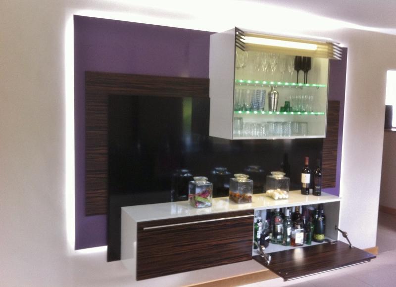 Macaser Ebony Veneer kitchen drinks cabinet