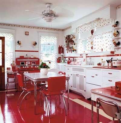 Red Kitchen 1950s