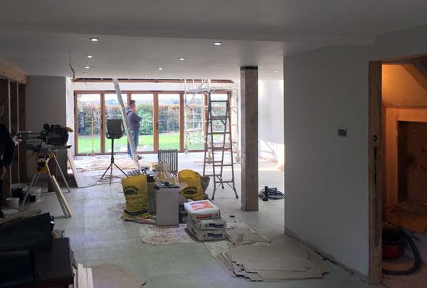 Before installation of kitchen near Sheffield Park