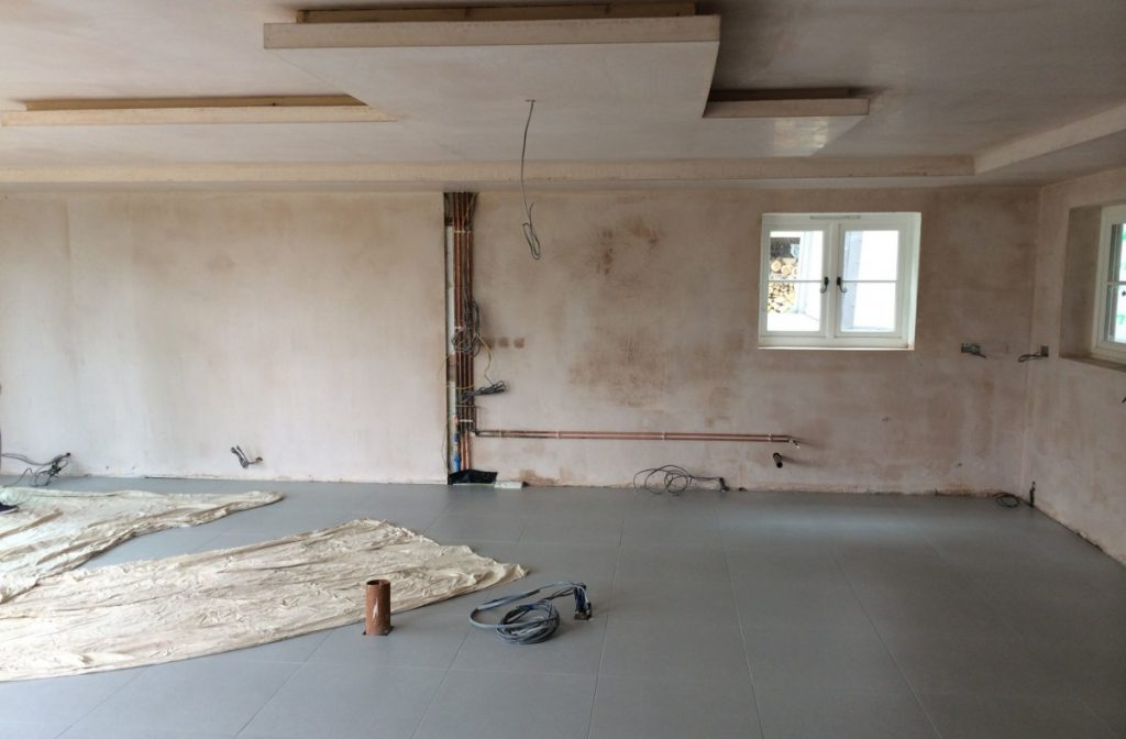 before the kitchen was installed