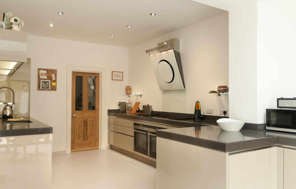 White Kitchen Units Black Worktop grey kitchen black worktop | winda 7 furniture