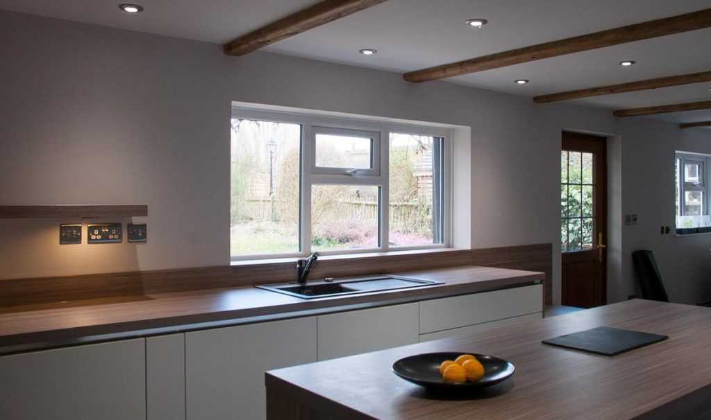 satin white kitchen stone oak worktops