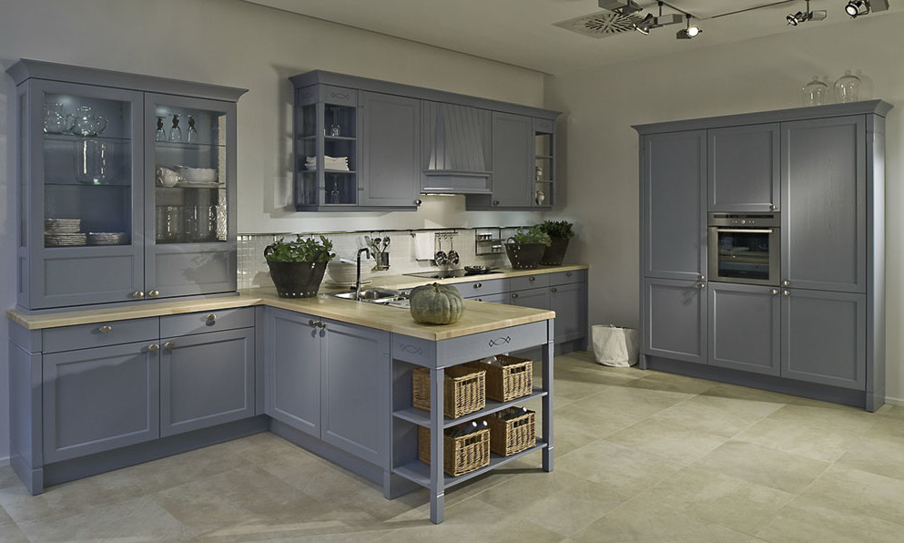 Duck Egg Blue And Cream Kitchen