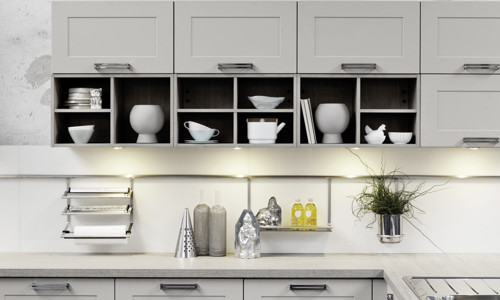 contemporay white Shaker Kitchen