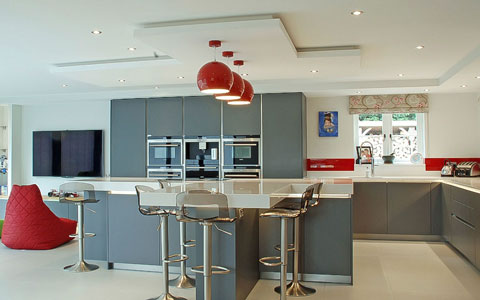 satin grey kitchen buxted