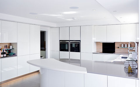 white gloss curved hurstpierpoint