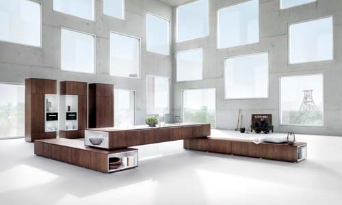 german modern oak kitchen