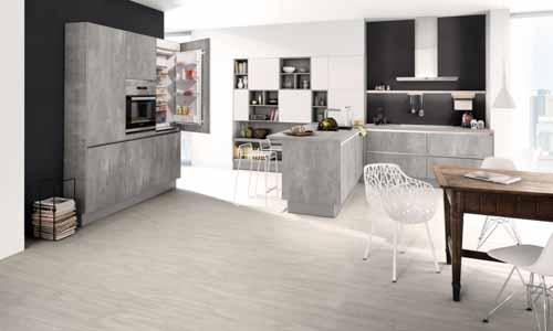stone handleless german kitchen