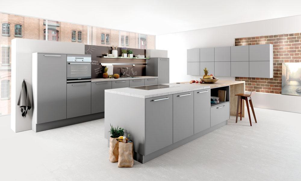 Grey kitchen style for Kitchen design uckfield