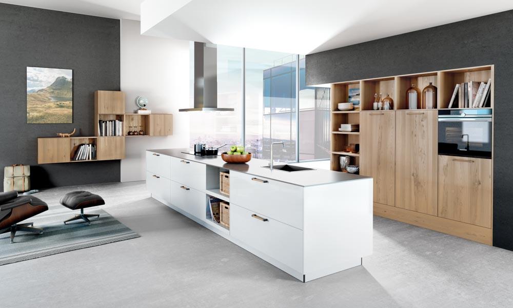 Satin White Kitchen Black Rok Kitchen Design Uckfield and Heathfield