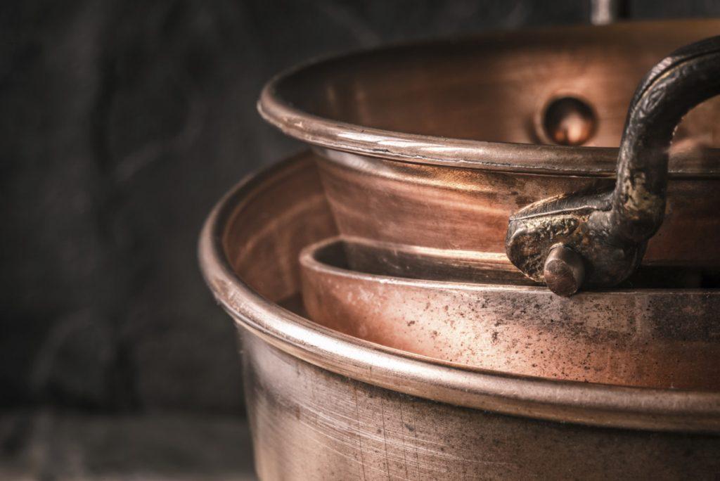 Metallic kitchen design