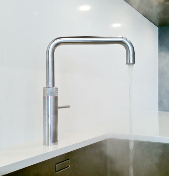 Quooker boiling tap in Black Rok showroom