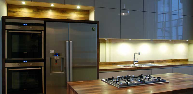 Kitchen design Brighton walnut worktops
