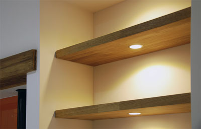 Solid Oak Kitchen Shelves