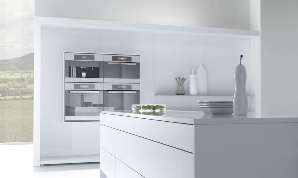 Polar white kitchen style for Kitchen design uckfield
