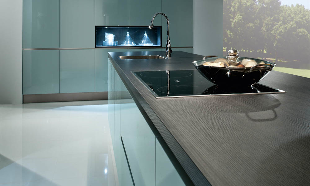 Steel blue kitchen style for Kitchen design uckfield