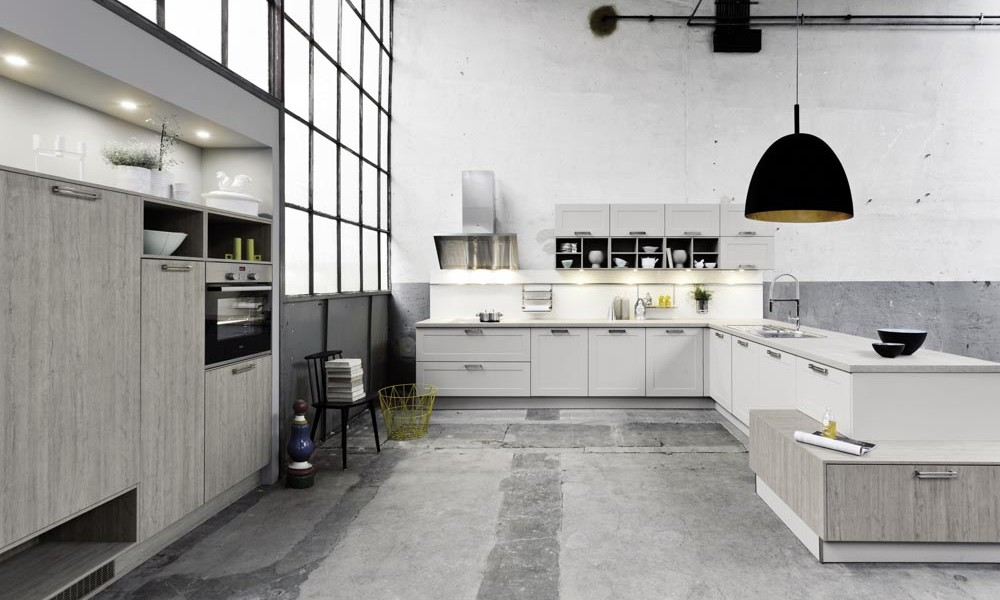 Contemporary white shaker kitchen style for Kitchen design uckfield
