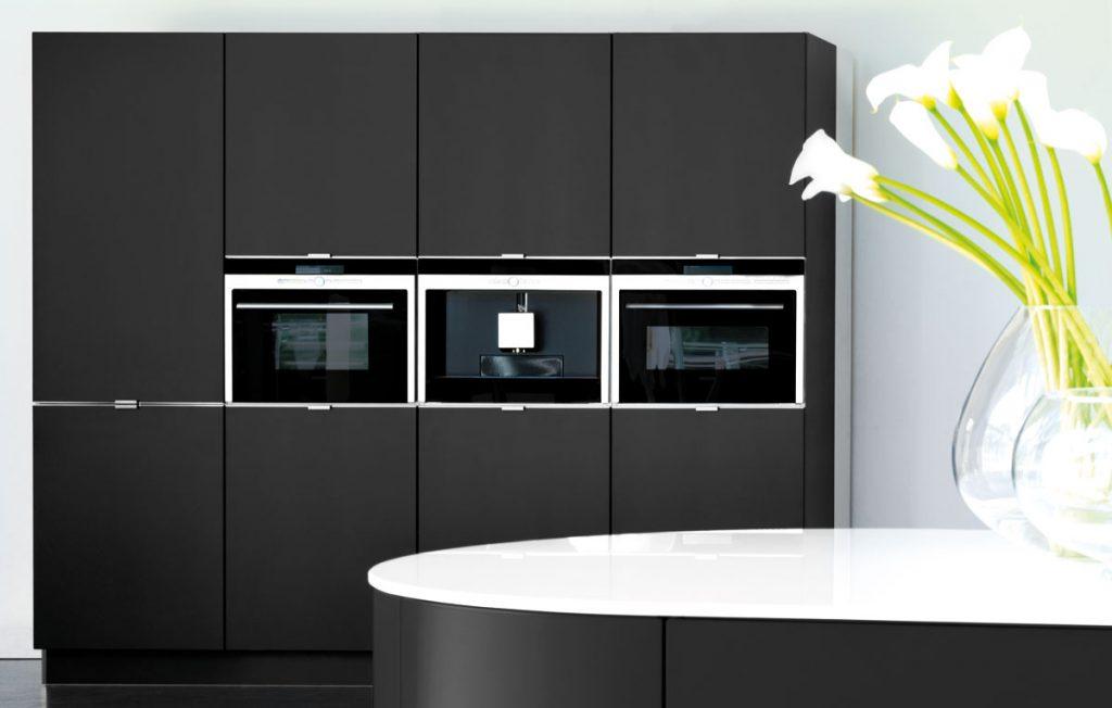 matt black kitchen tall units