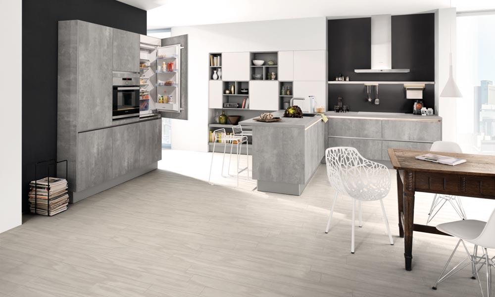 Stone Handle Less Kitchen