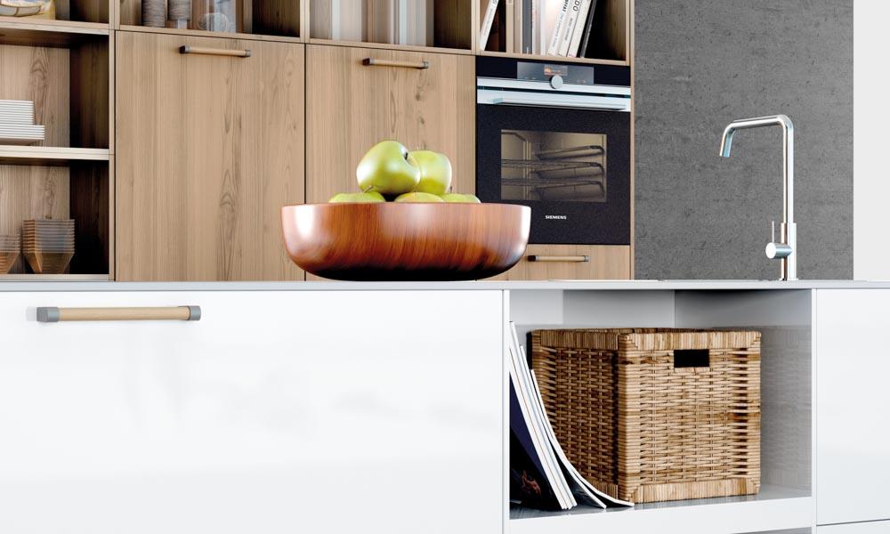 Satin white kitchen for Kitchen design uckfield