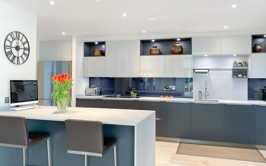 graphite matt kitchen island