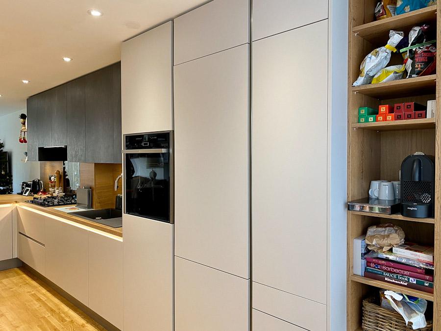 dark-grey-kitchen-oak-worktops-tall-cupboards