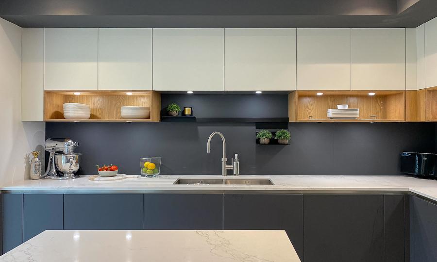 chefs kitchen sink area