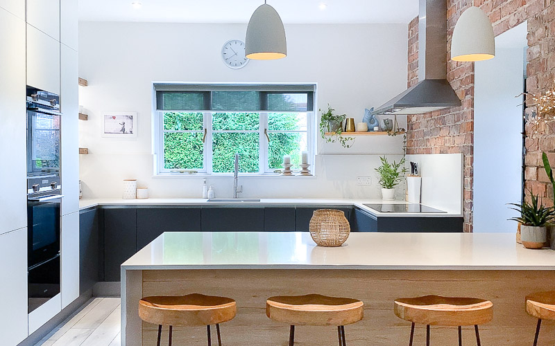 satin white graphite satin white and graphite kitchen Black Rok Kitchen Design Uckfield